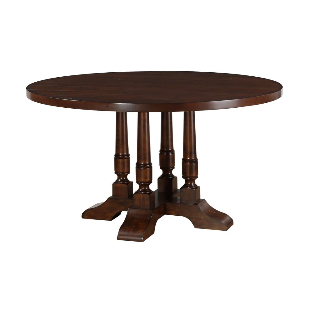 Cherry Dining Table: Acme Furniture Tanner Cherry Dining Table-60835