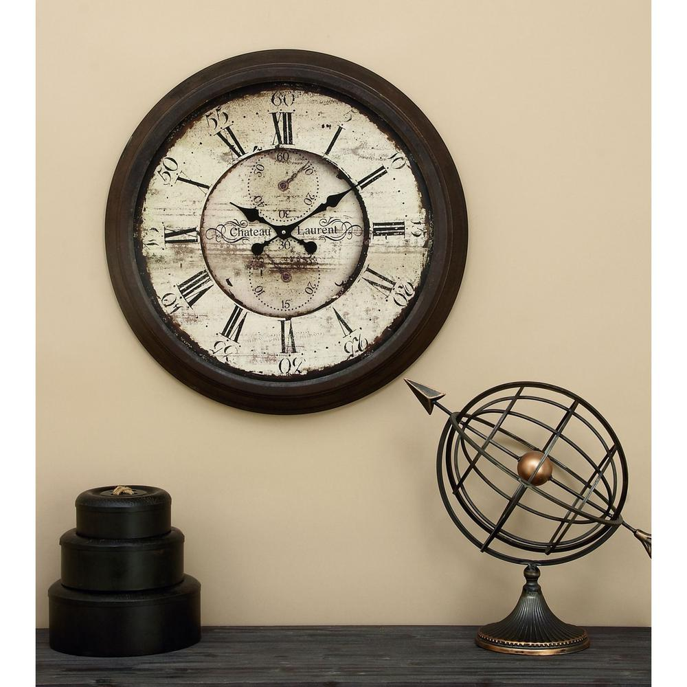28 in metal wall clock 52515 the home depot metal wall clock 52515 the home depot amipublicfo Images