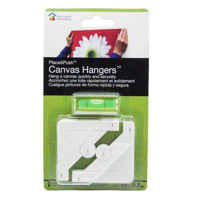 Place and Push Canvas Hangers