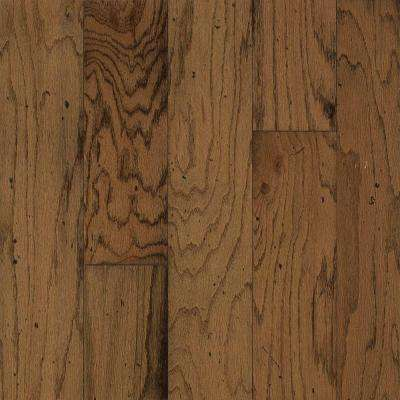 Take Home Sample - Distressed Oak Gunstock Engineered Hardwood Flooring - 5 in. x 7 in.