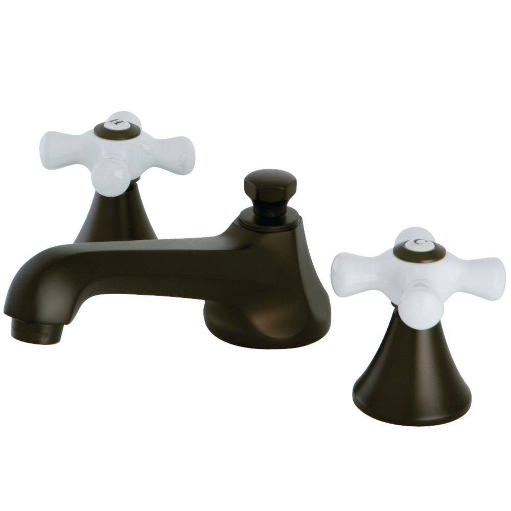 Kingston Brass Modern 8 In. Widespread 2-Handle Bathroom Faucet In Oil Rubbed Bronze-HKS4475PX