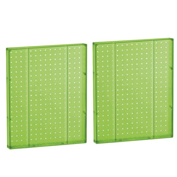 20.25 in H x 16 in W Pegboard Green Styrene One Sided Panel (2-Pieces per Box)