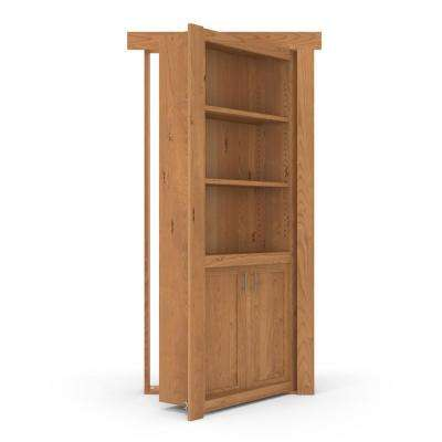 36 in. x 80 in. Flush Mount Assembled Laundry Door Alder Natural Stained Right-Hand Outswing