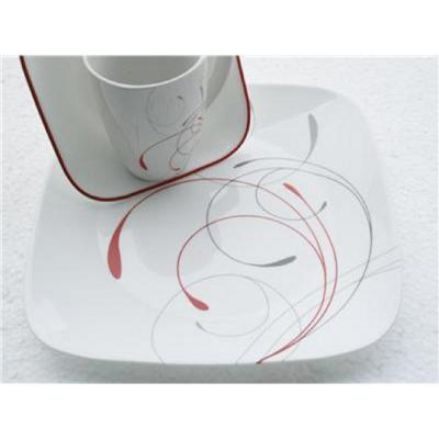 Square 8.5-In Lunch Plates Splendor (Set of 6)