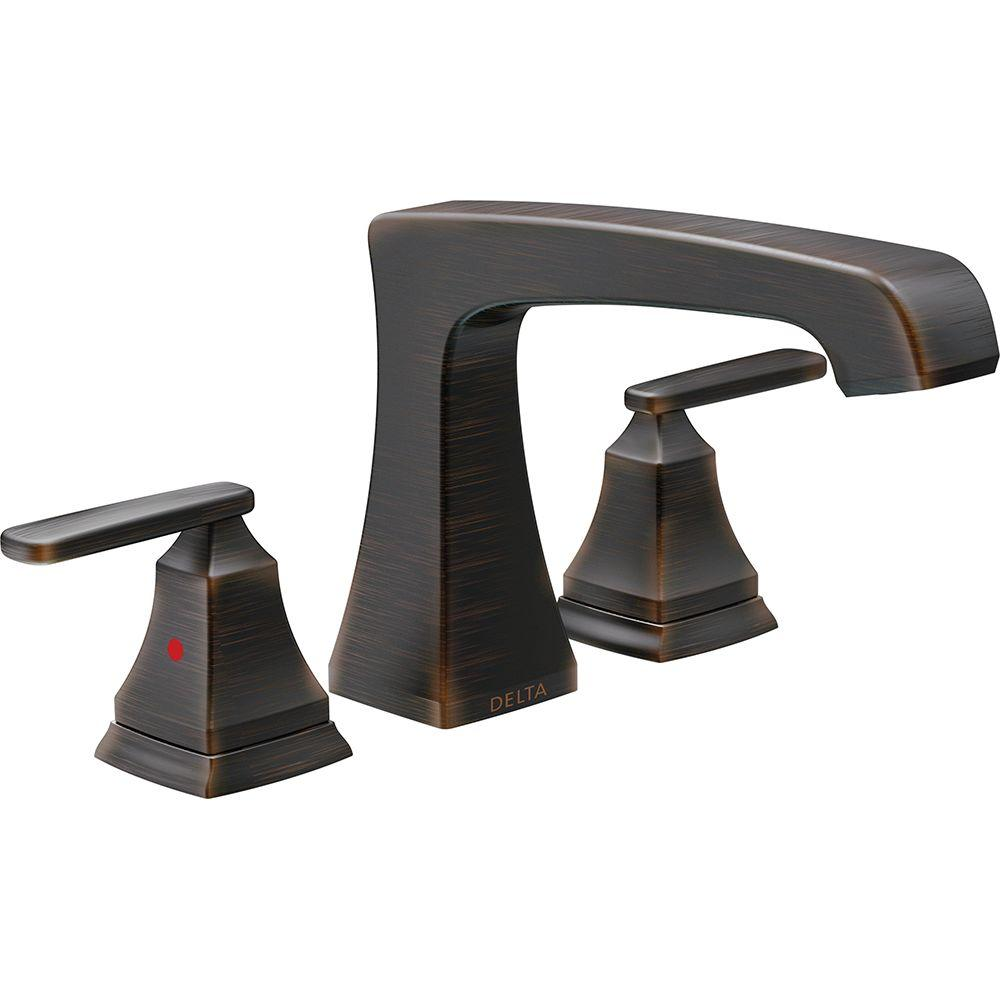 Delta Ashlyn 2-Handle Deck-Mount Roman Tub Faucet Trim Kit in ...