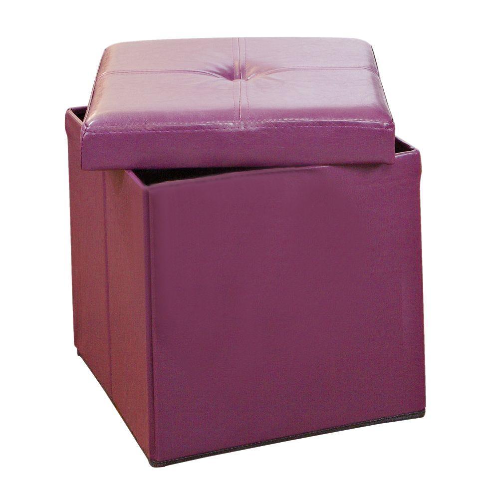 Etonnant Purple Storage Ottoman