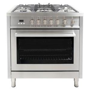 Cosmo 36 inch 3.8 cu. ft. Gas Range with Oven and 5 Burner Cooktop with Heavy... by Cosmo