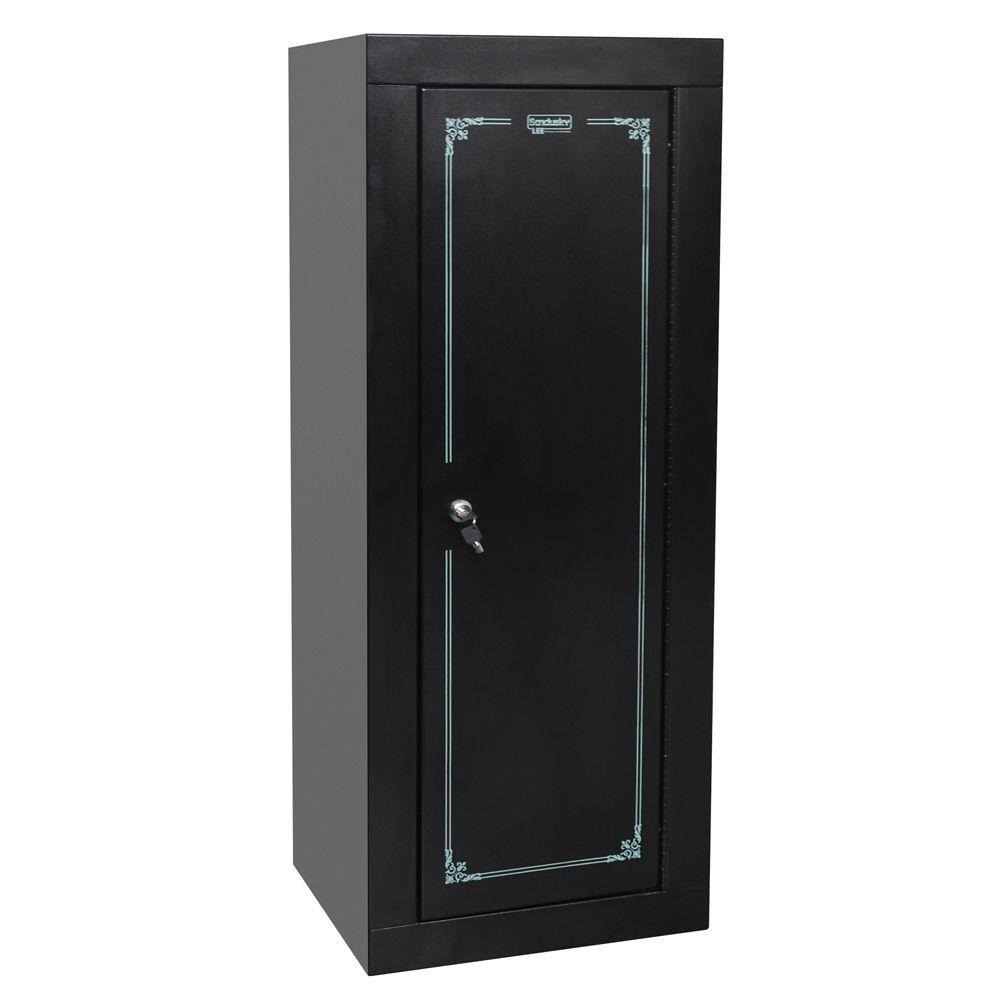 55 in. H x 21 in. W x 18 in. D Steel Freestanding Gun Security Cabinet in Black
