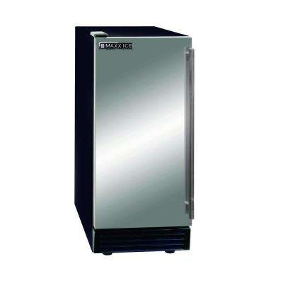 50 lb. Freestanding Icemaker in Stainless Steel and Black