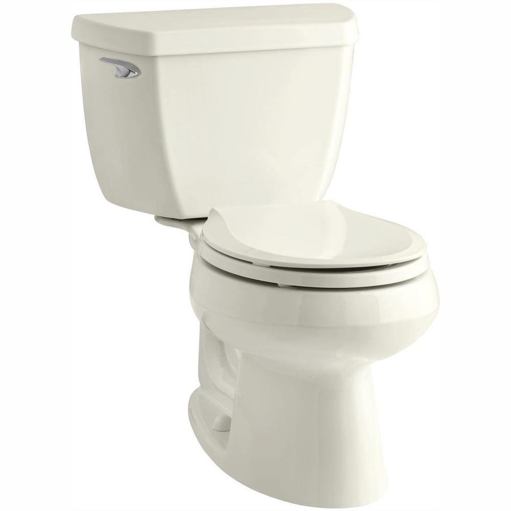 Brilliant Kohler Wellworth Classic 2 Piece 1 28 Gpf Single Flush Round Front Toilet With Class Five Flushing Technology In Biscuit Gamerscity Chair Design For Home Gamerscityorg