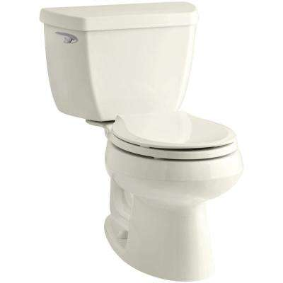 Wellworth Classic 2-Piece 1.28 GPF Single Flush Round Front Toilet with Class Five Flushing Technology in Biscuit