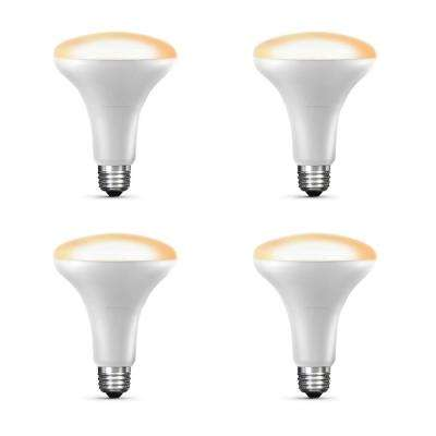 65-Watt Equivalent Soft White (2700K) BR30 Dimmable Apple HomeKit LED Smart Light Bulb (4-Pack)