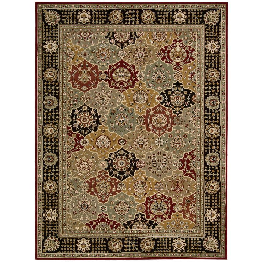 Nourison Persian Crown Picard Black 9 ft. 3 in. x 12 ft. 9 in. Area Rug