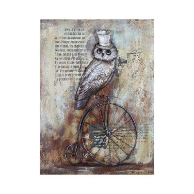 Wheel Wise Multi-Colored Metal Wall Art