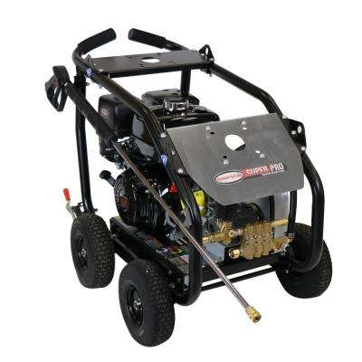 SuperPro Roll-Cage 4400 PSI at 4.0 GPM HONDA GX390 Cold Water Professional Belt Drive Gas Pressure Washer