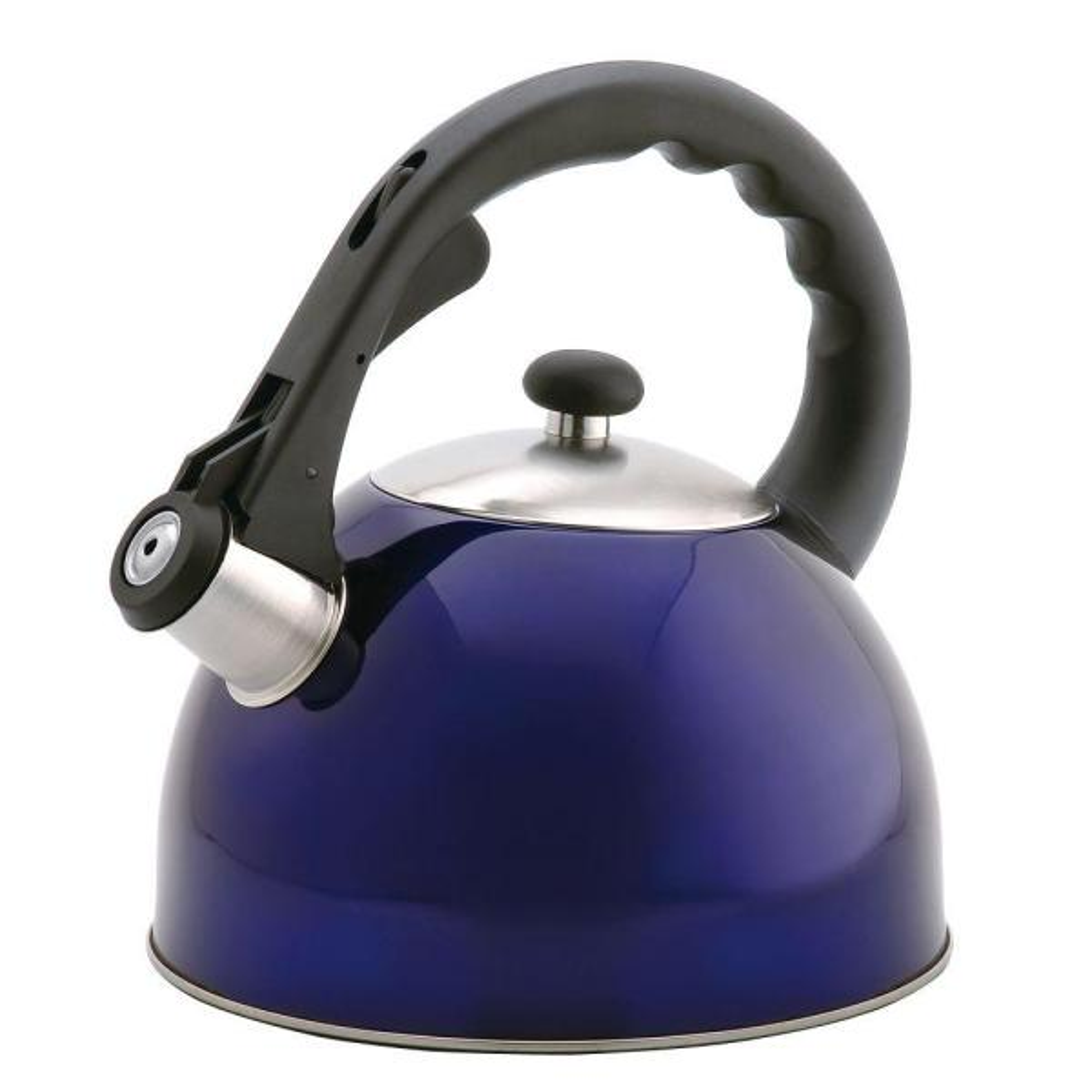 Creative Home Satin Splendor 11.2-Cup Stovetop Tea Kettle in Blue 72984