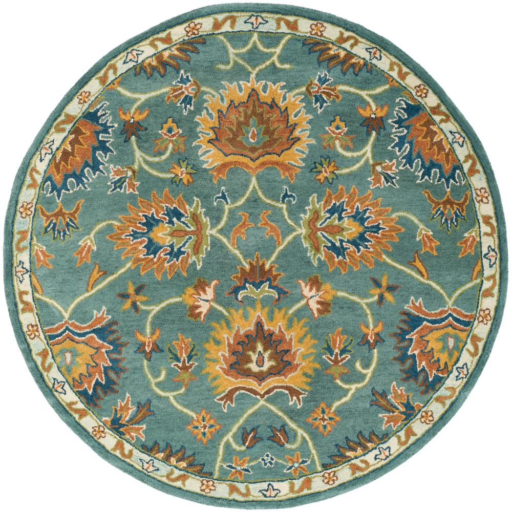 Safavieh Heritage Light Blue 6 Ft X 6 Ft Round Area Rug