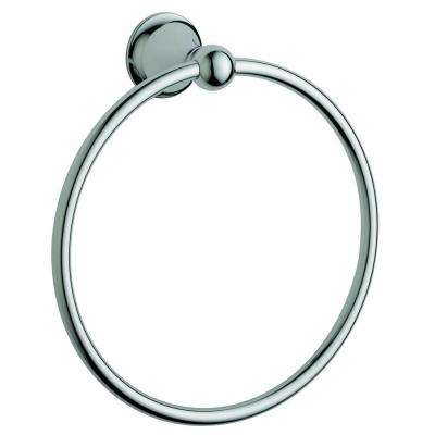 Seabury Towel Ring in Chrome