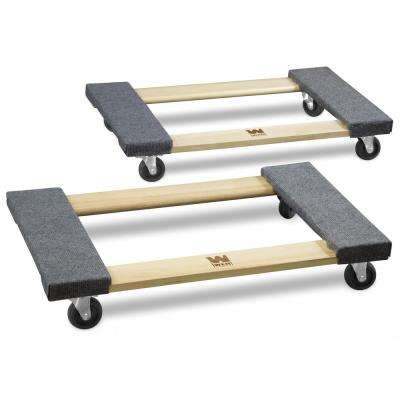 1000 lbs. Capacity 18 in. x 30 in. Hardwood Movers Dolly (2-Pack)