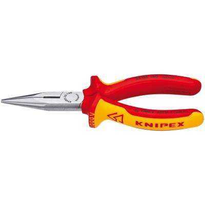 6-1/4 in. 1000-Volt Insulated Long Nose Pliers with Cutter