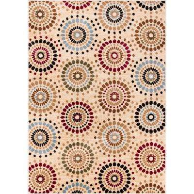 Barclay Orchid Fields Ivory 8 ft. x 10 ft. Contemporary Suzani Area Rug