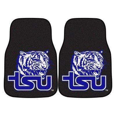 NCAA Tennessee State University 17 in. x 27 in. 2-Piece Set of Carpet Car Mats