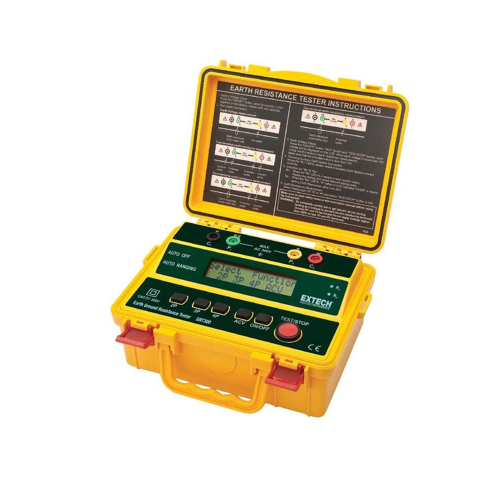 Extech Instruments 4-Wire Earth Ground Resistance Tester with Limited NIST