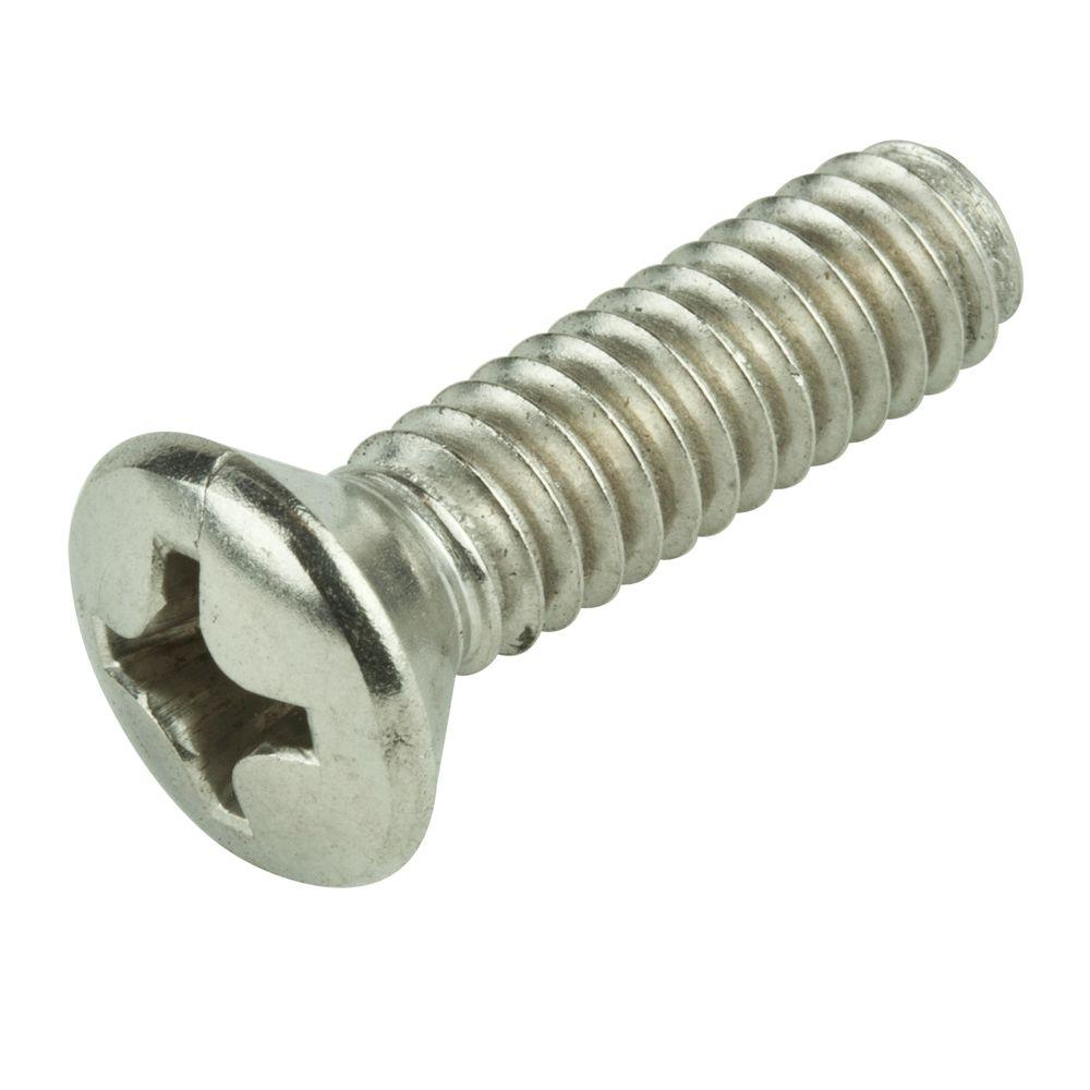 #10-32 x 1/2 in. Phillips Oval-Head Machine Screws (6-Pack)
