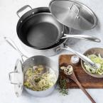 American Kitchen Make Enough For Leftovers 5-Piece Stainless Steel Cookware Set