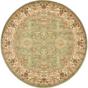 Voyage St. Florence Light Green 6' 0 x 6' 0 Round Rug