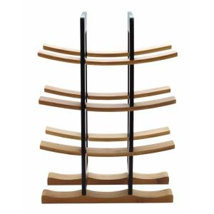 Anchor Hocking Bamboo Wine Rack with Espresso Accents by