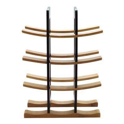 Bamboo Wine Rack with Espresso Accents