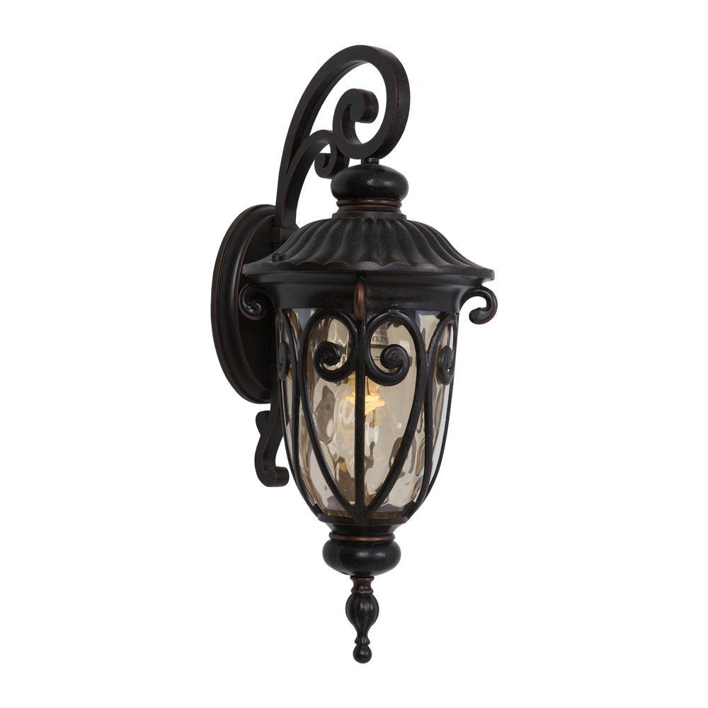Viviana Collection 1-Light Oil-Rubbed Bronze Outdoor Wall Lantern Sconce