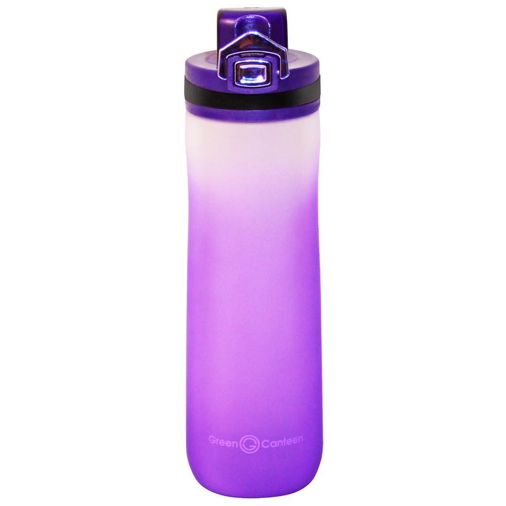 22 oz. Frosted Purple Plastic Tritan Hydration Bottle (6-Pack)