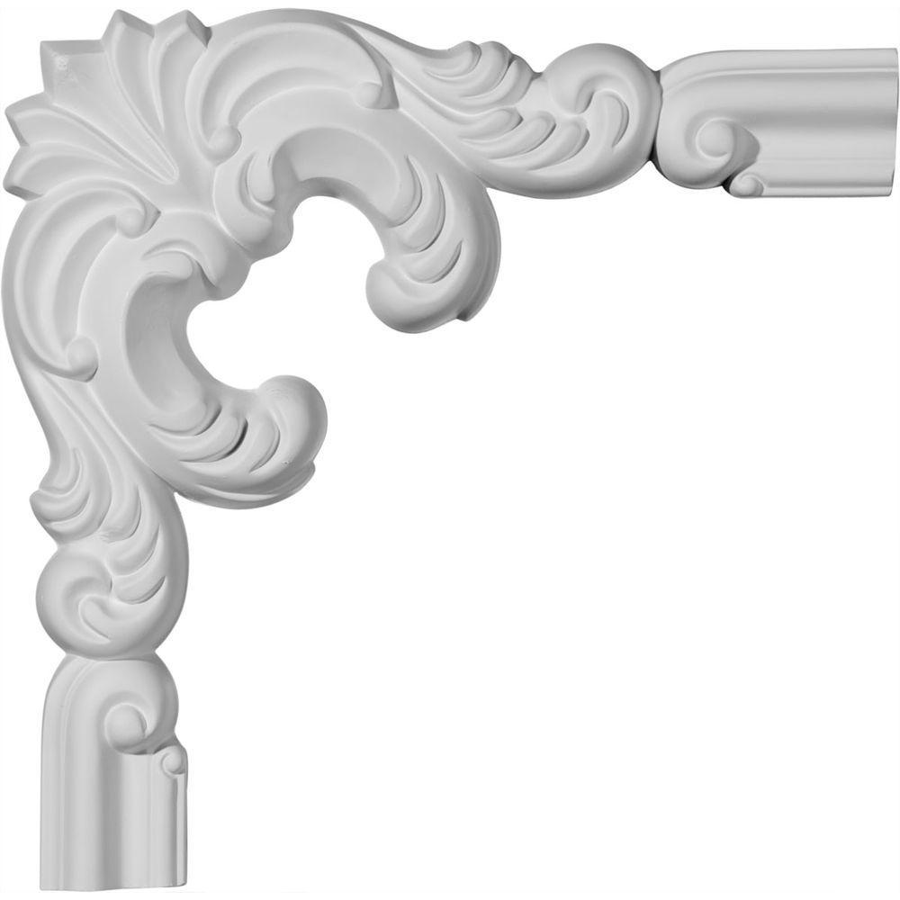 1-1/8 in. x 10 in. x 10 in. Polyurethane Seville Panel Moulding Corner