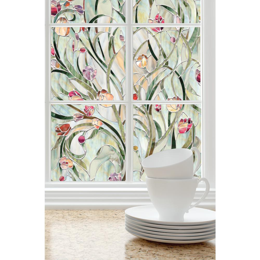 H Spanish Garden Decorative Window Film