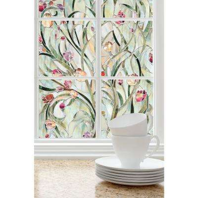 24 in. W x 36 in. H Spanish Garden Decorative Window Film