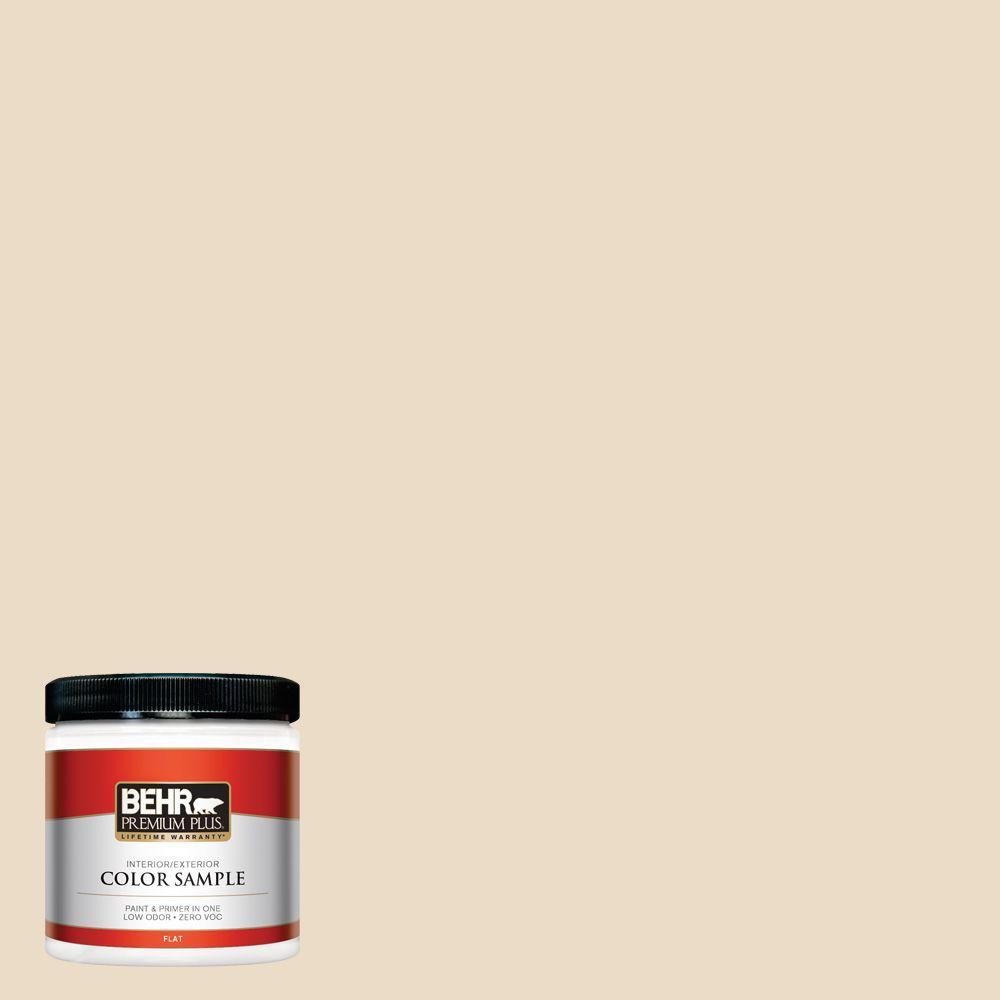 8 oz. #N290-2 Authentic Tan Flat Zero VOC Interior/Exterior Paint and