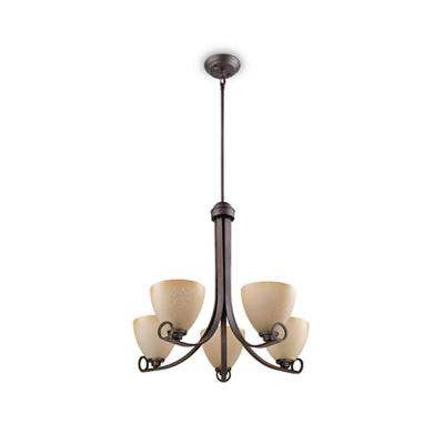 Maurice 5-Light Oiled Bronze Chandelier