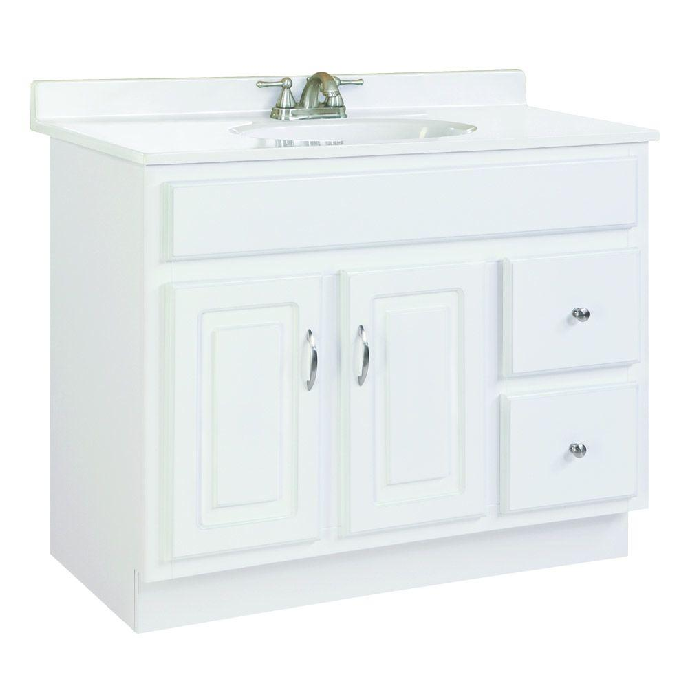 Design House Concord 36 In W X 21 In D Unassembled Vanity Cabinet Only In White Gloss 541052