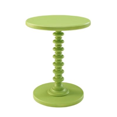 Green Round Spindle Table