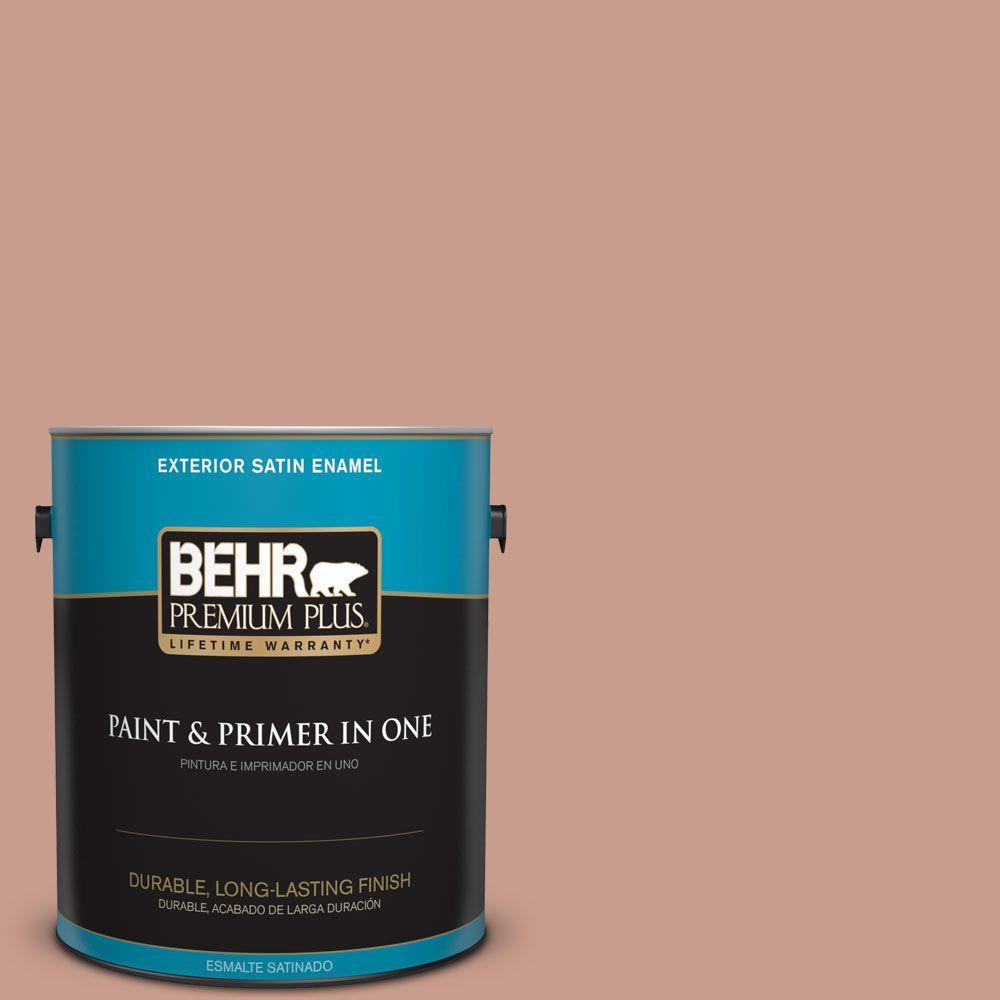 BEHR Premium Plus 1-gal. #210F-5 Artifact Satin Enamel Exterior Paint