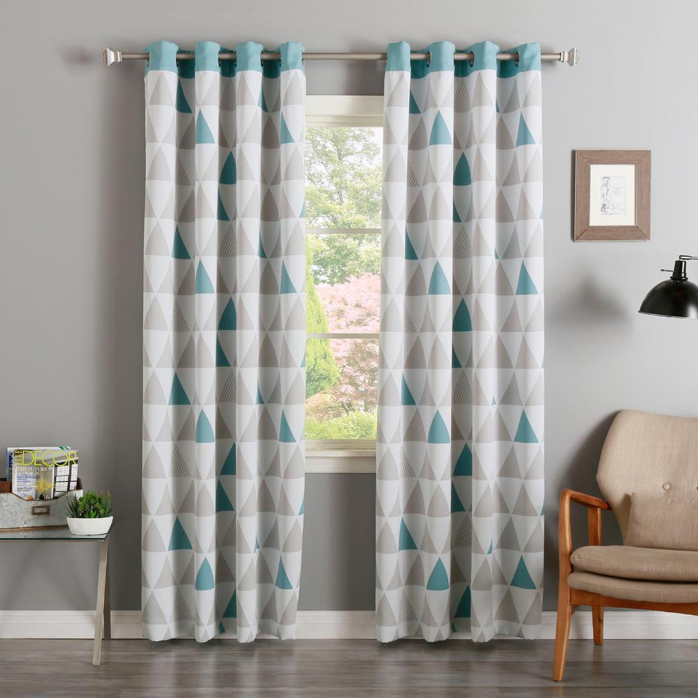 L Ocean Mixed Triangle Room Darkening Curtain 2