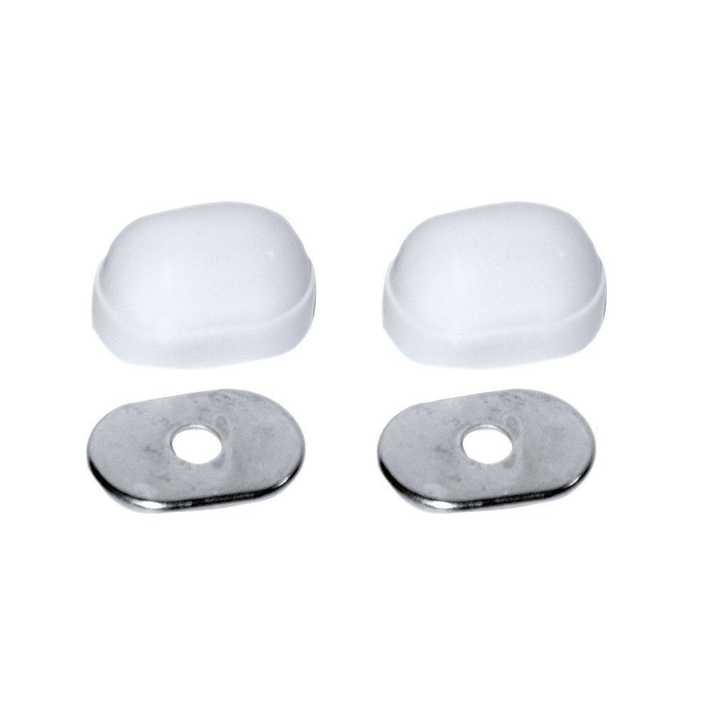 Oval Closet Bolt Cap in White