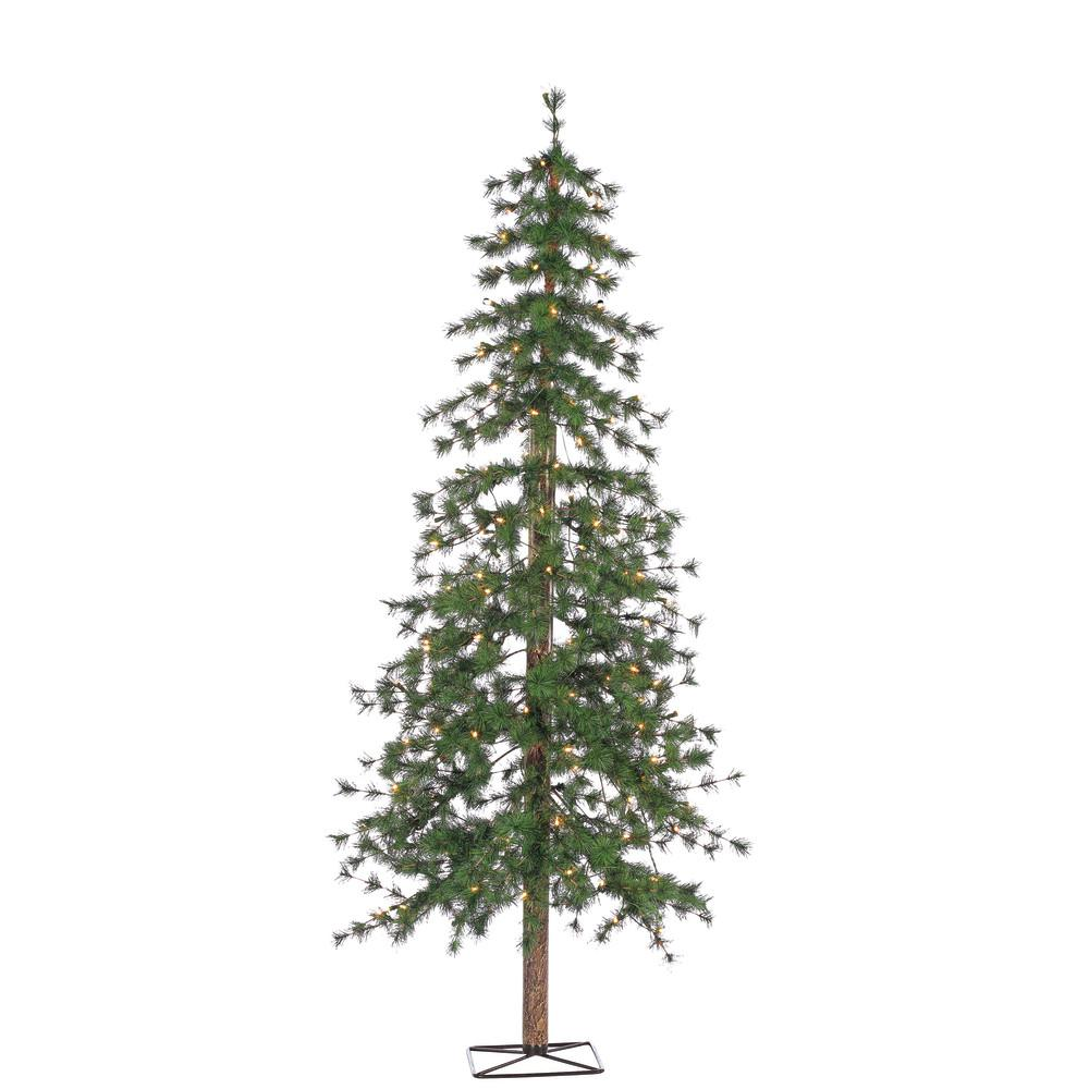 STERLING 6 ft. Pre-Lit Hard Needle Alpine Artificial Christmas Tree ...