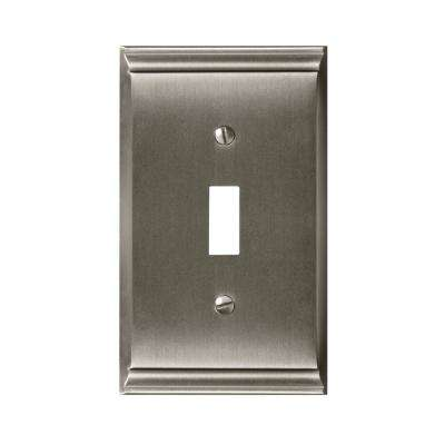 Candler 1-Toggle Wall Plate, Satin Nickel