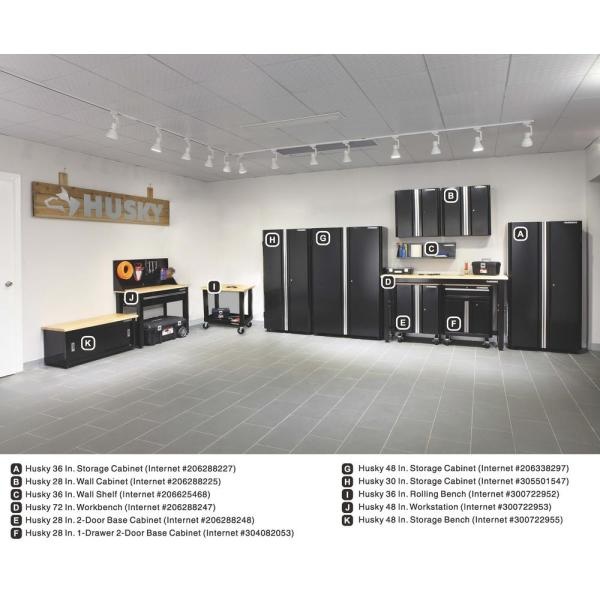Husky Ready To Assemble 24 Gauge Steel, Wall Mounted Storage Cabinets Home Depot