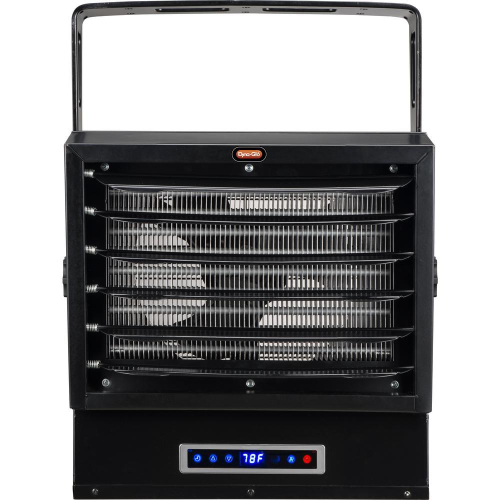 10,000-Watt Dual Heat Electric Garage Heater with Remote