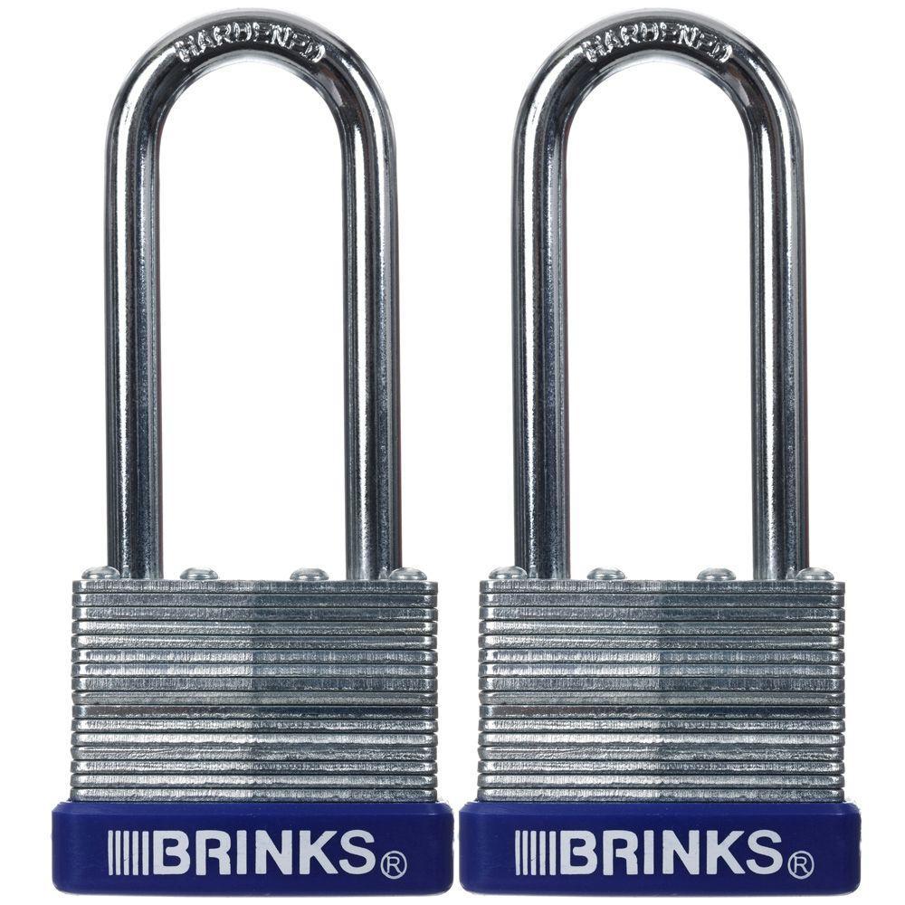 Brinks Home Security 40 MM Laminated Steel Padlock (2-Pack) by Brinks Home Security