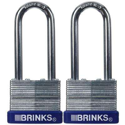 40 MM Laminated Steel Padlock (2-Pack)